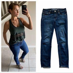 American Eagle Skinny Super Stretch Jeans 8 Long